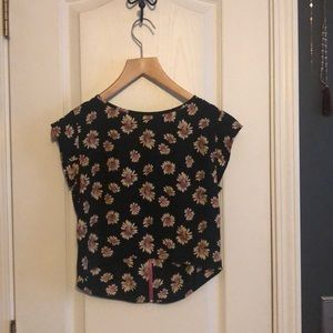Sunflower Crop Top Blouse